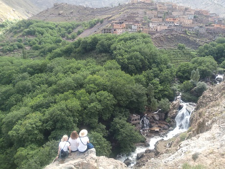Hiking in Imlil village