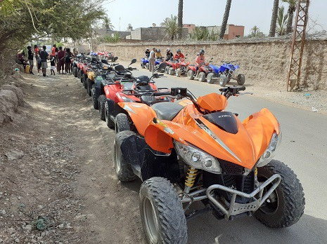 Quad biking in Palmeraie marrakech