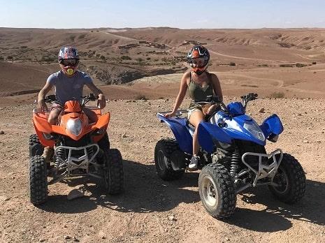 Quad biking Agafay desert